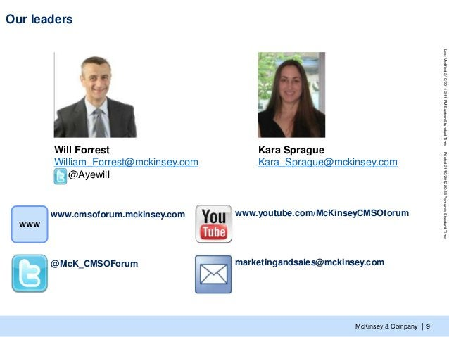McKinsey & Company LastModified3/19/20143:11PMEasternStandardTimePrinted31/10/201220:58RomanceStandardTime | Our leaders 9...