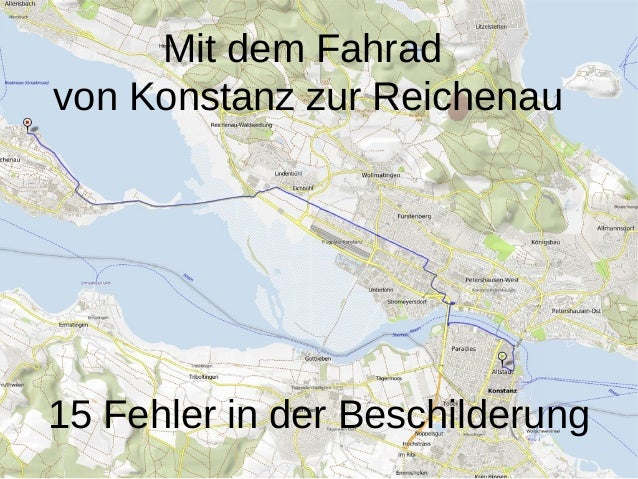 Mit dem Fahradvon Konstanz zur Reichenau15 Fehler in der Beschilderung