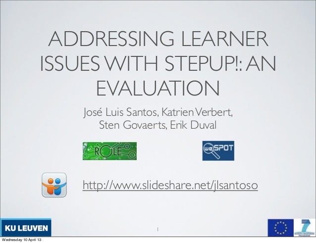 ADDRESSING LEARNER                    ISSUES WITH STEPUP!: AN                          EVALUATION                        J...