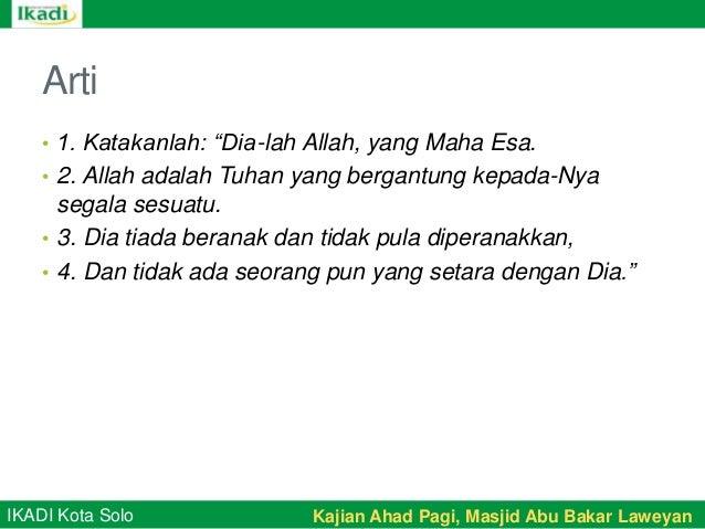 20130414 Ikadi Solo Tafsir Surat Al Ikhlas