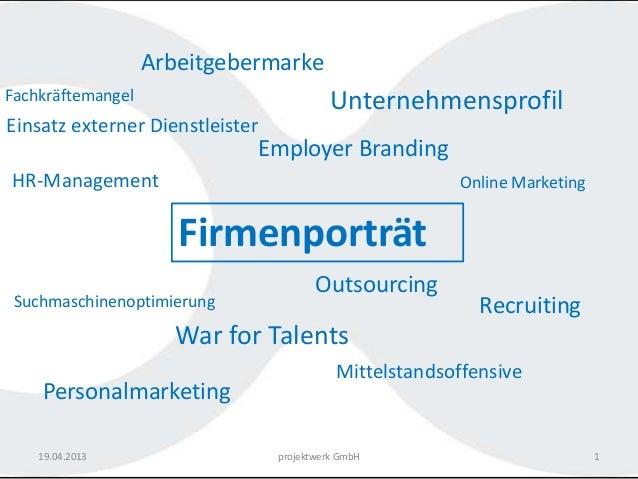 ArbeitgebermarkeFachkräftemangel                           UnternehmensprofilEinsatz externer Dienstleister               ...
