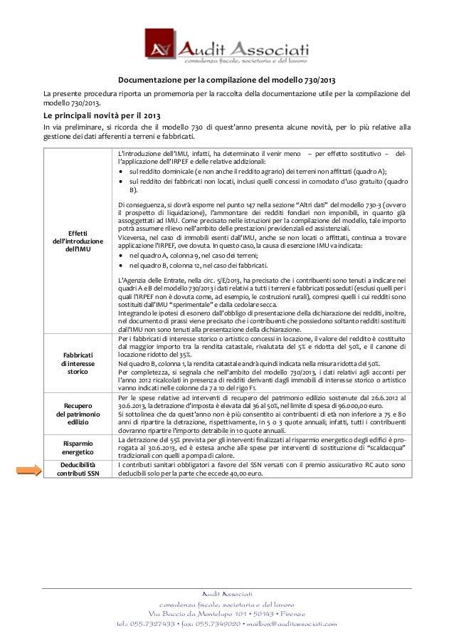 Audit Associaticonsulenza fiscale, societaria e del lavoroVia Baccio da Montelupo 101 • 50143 • Firenzetel.: 055.7327433 •...