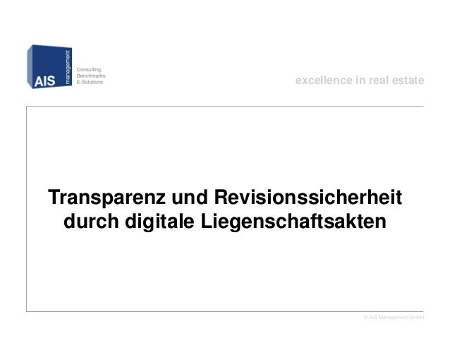 excellence in real estateTransparenz und Revisionssicherheit  durch digitale Liegenschaftsakten      – xRE Webinar am 16.4...