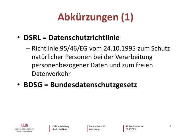 RICHTLINIE 95 46 EG PDF DOWNLOAD