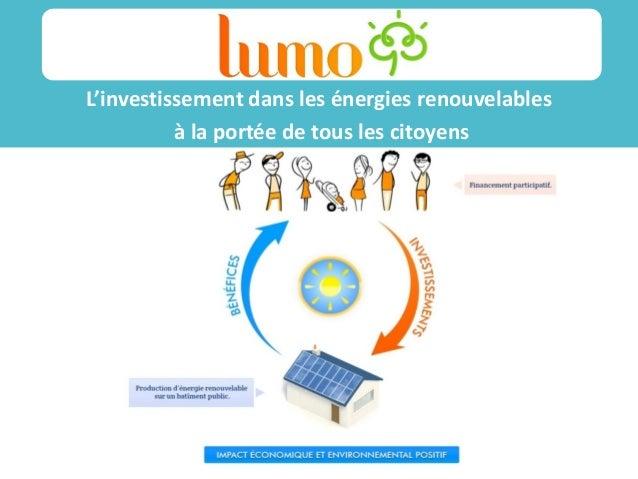 L'investissement dans les énergies renouvelables à la portée de tous les citoyens Sss ss