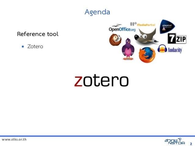 การจัดการรายการบรรณานุกรมด้วย Zeteroการจัดการรายการบรรณานุกรมด้วย Zetero Zetero  Slide 2