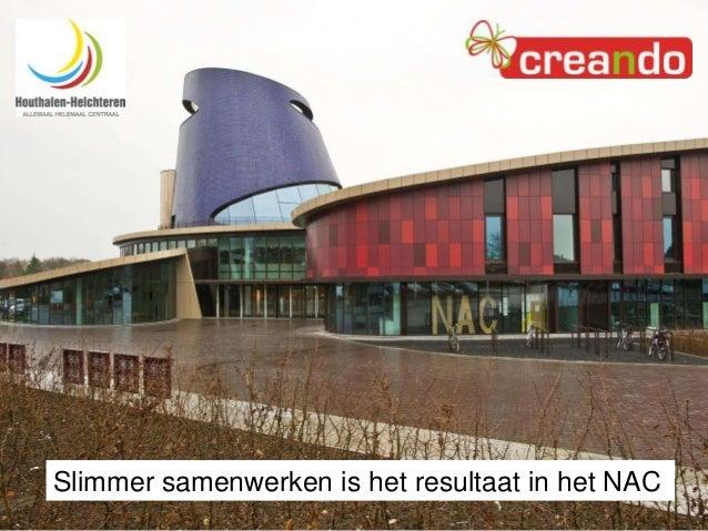 Het Nieuwe Werken en Leren Duurzaam inzetten van medewerkers in Houthalen-Helchteren  Slimmer samenwerken is het resultaat...