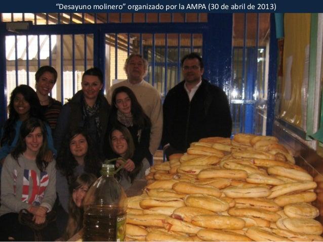 """""""Desayuno molinero"""" organizado por la AMPA (30 de abril de 2013)"""