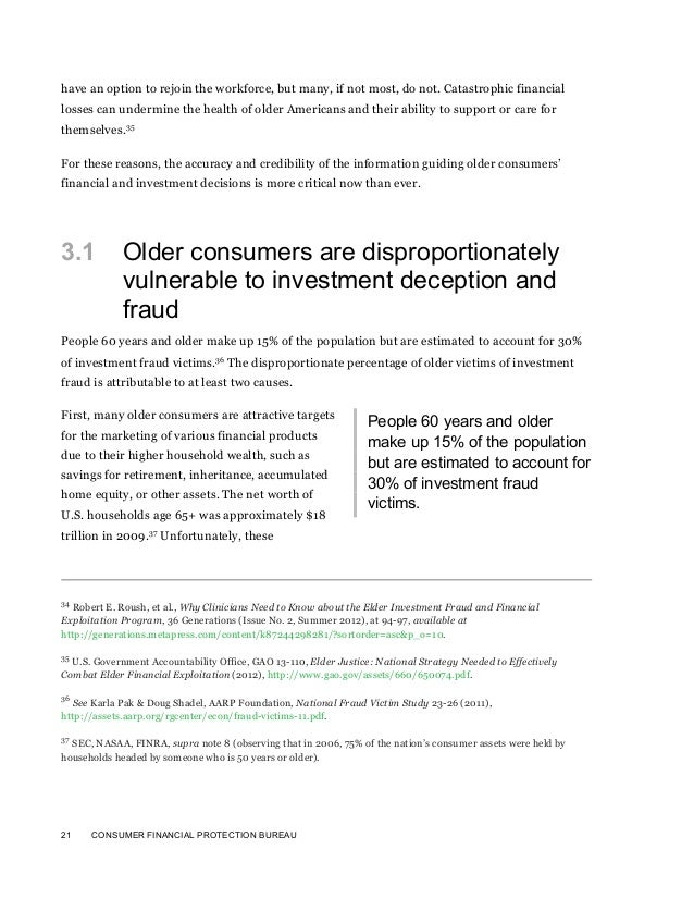 21 CONSUMER FINANCIAL PROTECTION BUREAUhave an option to rejoin the workforce, but many, if not most, do not. Catastrophic...