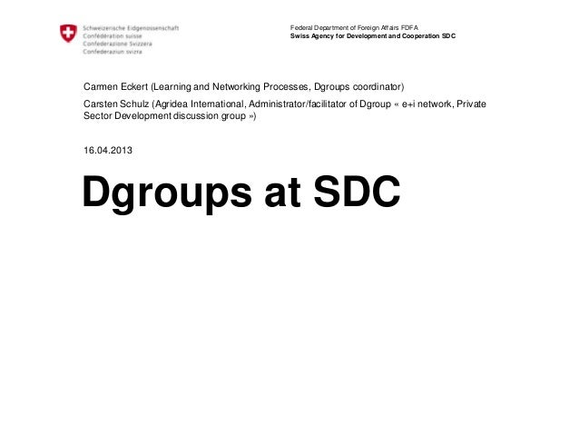 Federal Department of Foreign Affairs FDFA                                                 Swiss Agency for Development an...