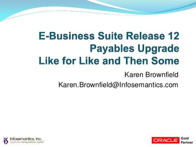Karen BrownfieldKaren.Brownfield@Infosemantics.com