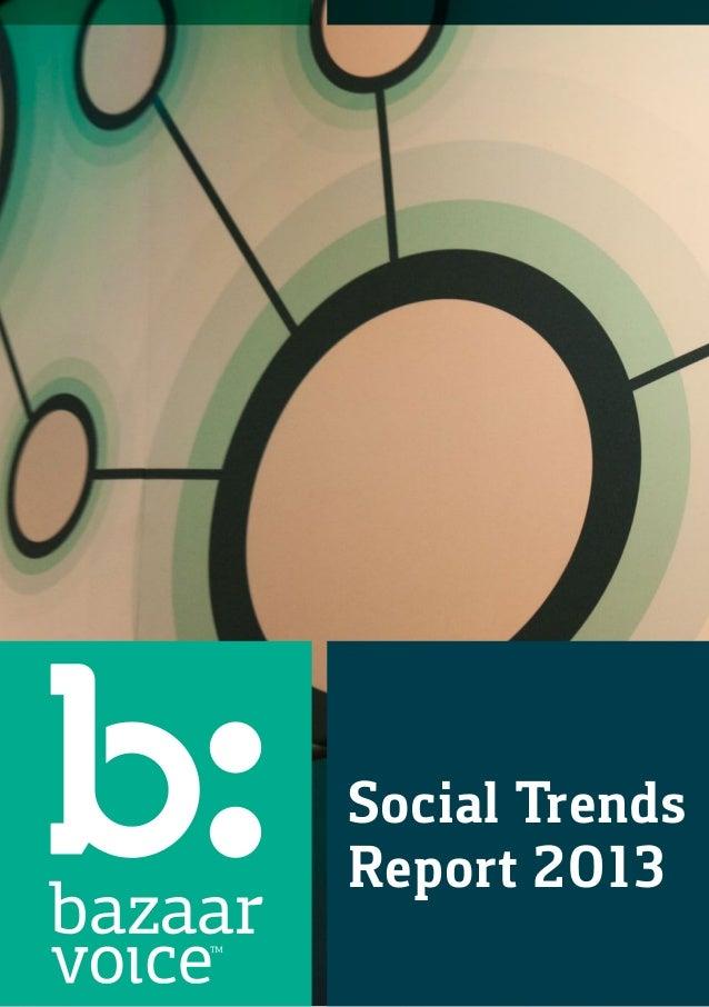 Social TrendsReport 2013