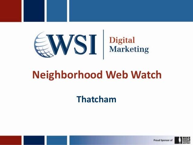 Neighborhood Web WatchThatcham