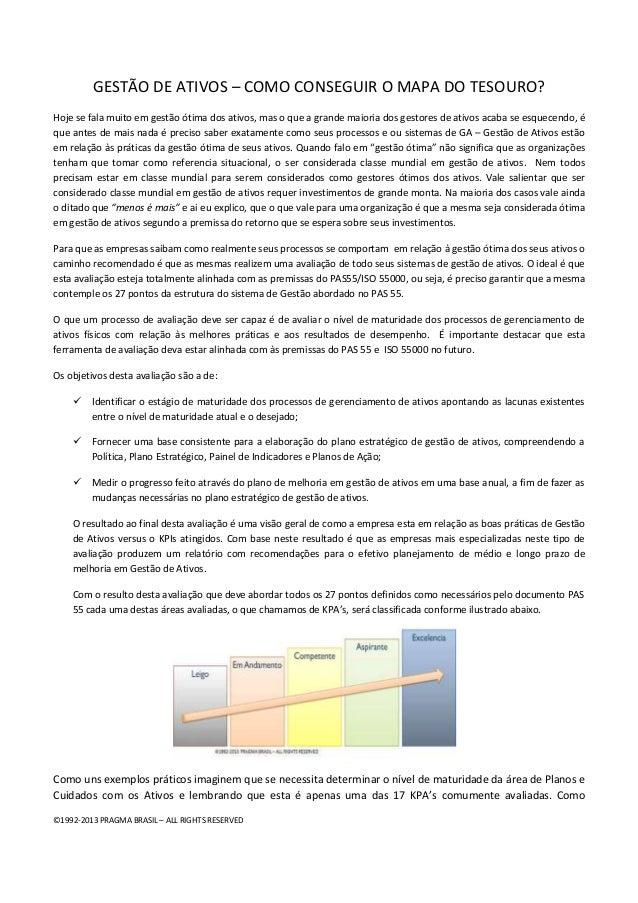 ©1992-2013 PRAGMA BRASIL – ALL RIGHTS RESERVED GESTÃO DE ATIVOS – COMO CONSEGUIR O MAPA DO TESOURO? Hoje se fala muito em ...
