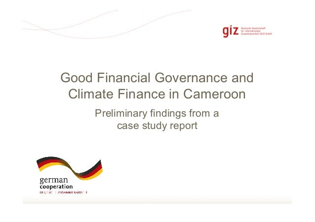 Seite 1Preliminary findings from acase study reportGood Financial Governance andClimate Finance in Cameroon