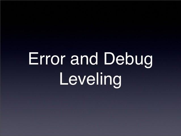 Node.js Error & Debug Leveling Slide 3