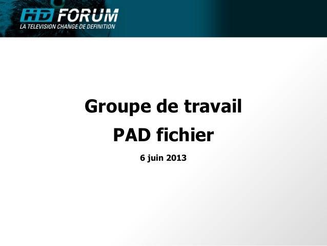 Groupe de travailPAD fichier6 juin 2013