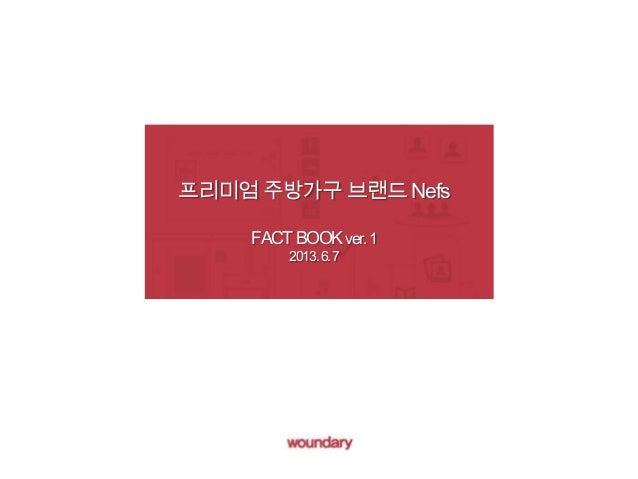 프리미엄 주방가구 브랜드 Nefs FACTBOOKver.1 2013.6.7