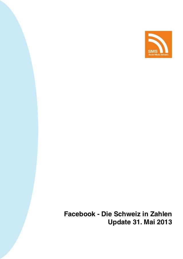 Facebook - Die Schweiz in ZahlenUpdate 31. Mai 2013SMSSocial Media Schweiz