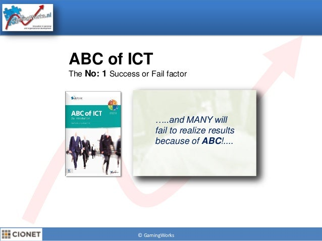 "© GamingWorksABC of ICTThe No: 1 Success or Fail factor""Through 2011 more than85% of IT operationsorganisationswill be inv..."