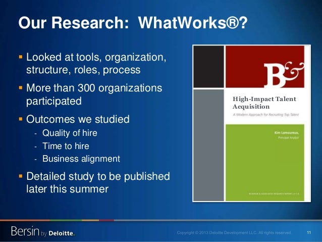 11 Our Research: WhatWorks®?  Looked at tools, organization, structure, roles, process  More than 300 organizations part...