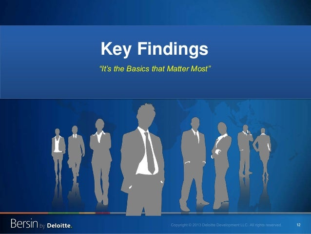 """12 Key Findings """"It's the Basics that Matter Most"""""""