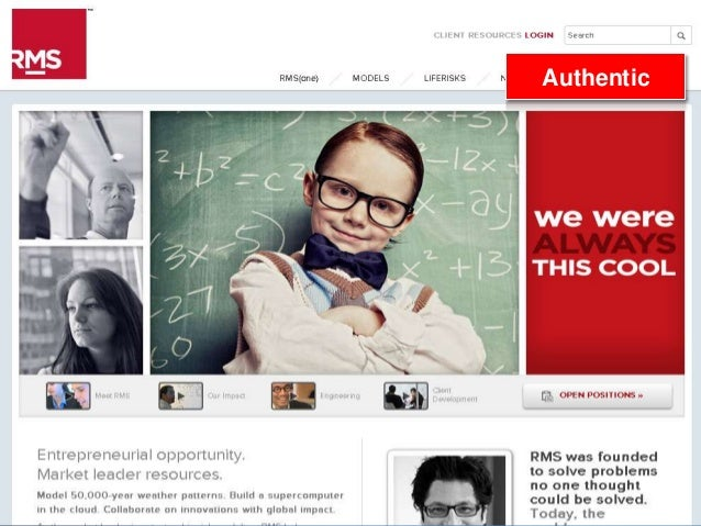 20 RMS Career Website: Building the Brand Authentic