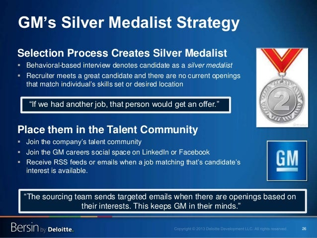 """26 GM's Silver Medalist Strategy """"If we had another job, that person would get an offer."""" Selection Process Creates Silver..."""