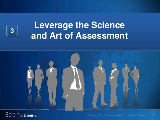 27 Leverage the Science and Art of Assessment 3