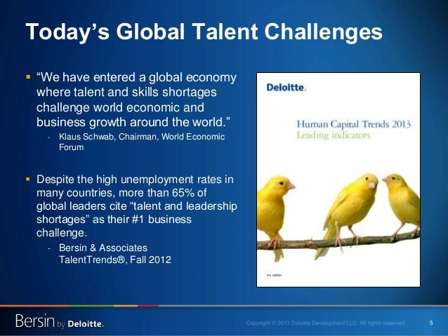 """5 Today's Global Talent Challenges  """"We have entered a global economy where talent and skills shortages challenge world e..."""