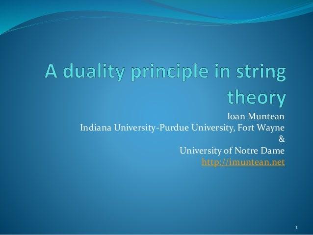 Ioan Muntean  Indiana University-Purdue University, Fort Wayne  &  University of Notre Dame  http://imuntean.net  1