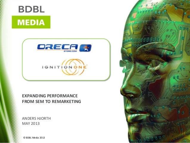 EXPANDING PERFORMANCEFROM SEM TO REMARKETINGANDERS HJORTHMAY 2013© BDBL Media 2013