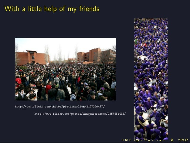 With a little help of my friendshttp://www.flickr.com/photos/pietermorlion/2127296477/http://www.flickr.com/photos/anaypac...