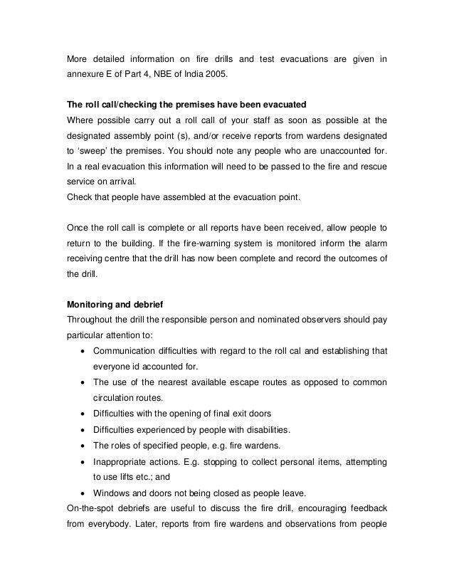 Speech fire drill essay