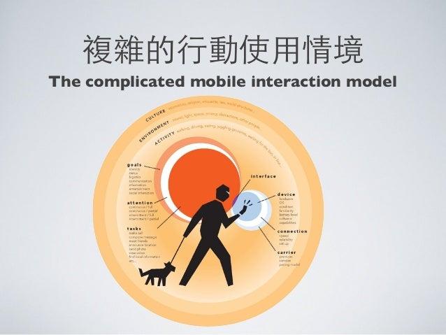 複雜的⾏行動使⽤用情境The complicated mobile interaction model