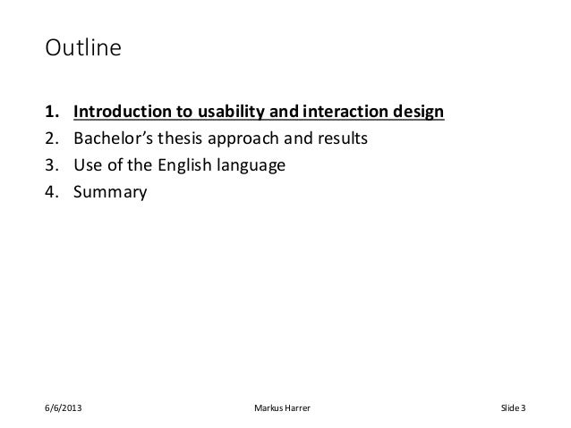 Bachelor Thesis Examples
