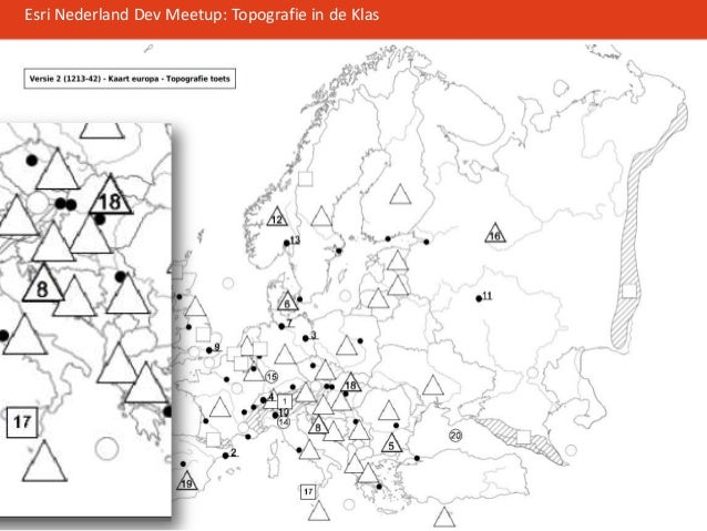 topografie in de klas: esri developer meetup 13-6-2013