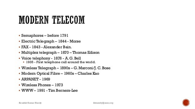 A brief history of telecommunication