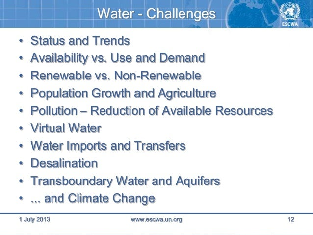 water resource challenge essay To provide a water environment federation (wef) organization (illinois, minnesota, wisconsin) offering multiple opportunities for the exchange of water quality knowledge and experiences among its members and the public and to foster a greater awareness of water quality achievements and challenges.