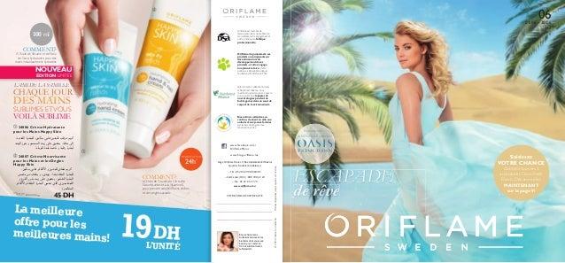 ©2013OriflameCosmeticsSA 24886 Crème Hydratantepour les Mains Happy Skin 24887 Crème Nourrisantepour les Mains et les O...