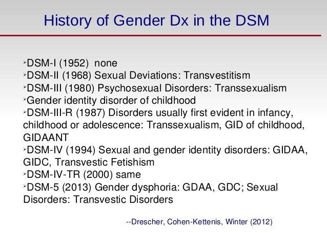 Dsm-iv homosexuality history