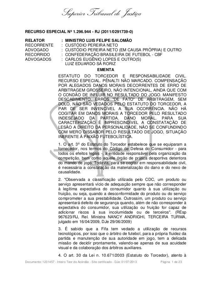 Superior Tribunal de Justiça RECURSO ESPECIAL Nº 1.296.944 - RJ  (2011 0291739 ... 6dbf1c1cbeb