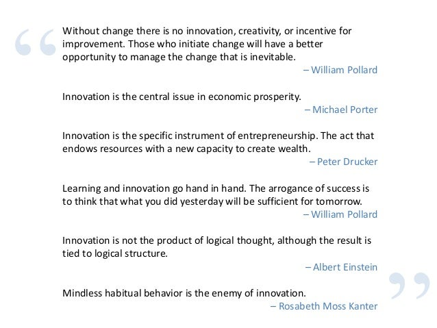 Fringe Innovation Quotes, Quotations & Sayings 2018