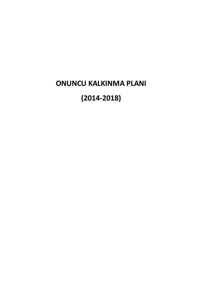ONUNCU KALKINMA PLANI (2014-2018)