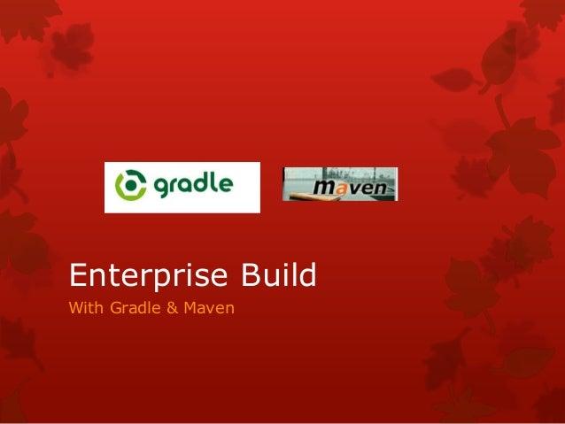 With Gradle & Maven Enterprise Build