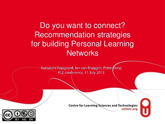 Do you want to connect? Recommendation strategies for building Personal Learning Networks