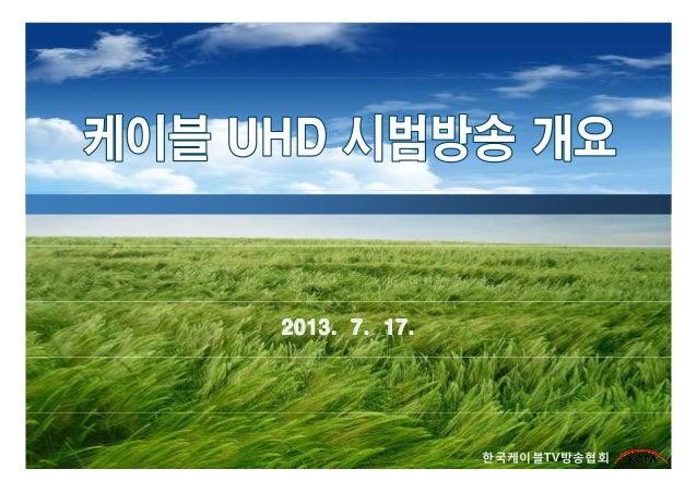 2013. 7. 17. 한국케이블TV방송협회