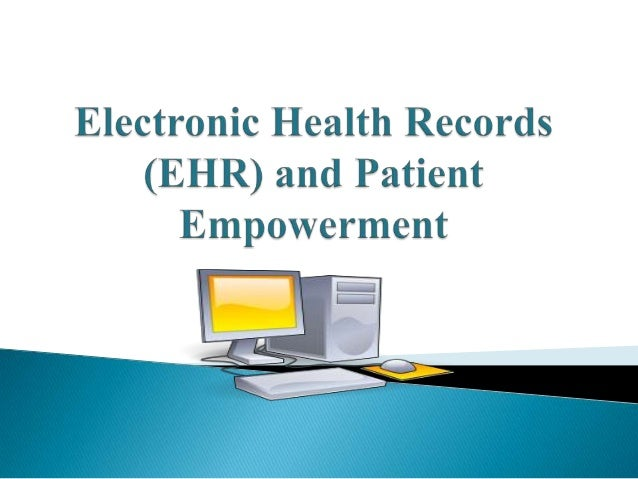 EHR is a computerized systemiccollection of health information of  individual patients' in a digital              format. ...