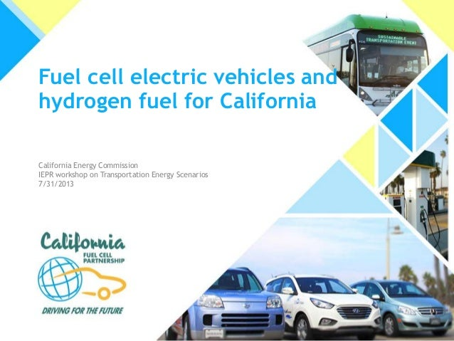 Fuel cell electric vehicles and hydrogen fuel for California California Energy Commission IEPR workshop on Transportation ...