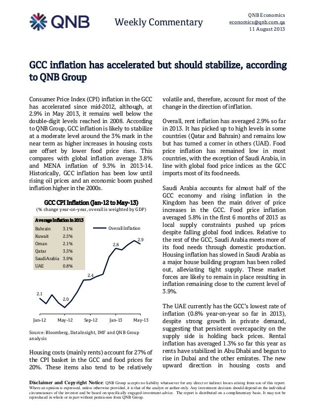 Weekly Commentary QNB Economics economics@qnb.com.qa 11 August 2013 Disclaimer and Copyright Notice: QNB Group accepts no ...